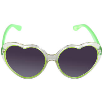 View Item Green Heart Shaped Transparent Sunglasses